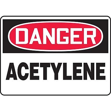 Accuform Signs® - Panneau de sécurité « DANGER ACETYLENE », 10 po x 14 po