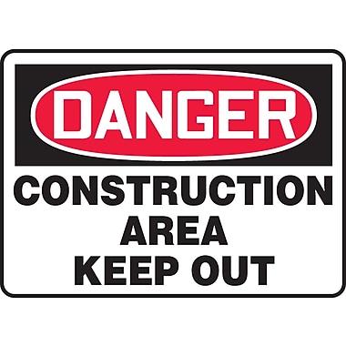 Accuform Signs® - Panneau de sécurité « DANGER PERMIT REQUIRED CONFINED SPACE DO NOT ENTER », 7 po x 10 po