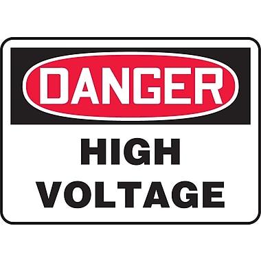 Accuform Signs® - Panneau de sécurité « DANGER HIGH VOLTAGE », 10 po x 14 po