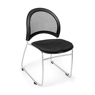 OFM ? Chaise empilable en tissu de collection Moon avec dossier en filet