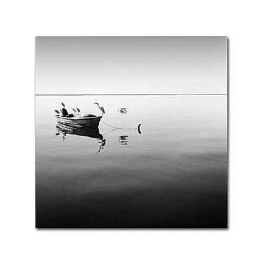 Trademark Fine Art 'Boat and Heron II'