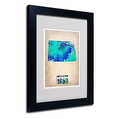 Trademark Fine Art 'North Dakota Watercolor Map'