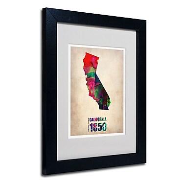 Trademark Fine Art 'California Watercolor Map'