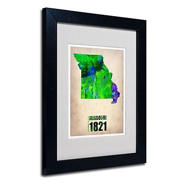 Trademark Fine Art 'Missouri Watercolor Map'