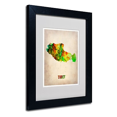 Trademark Fine Art 'Tibet Watercolor Map'