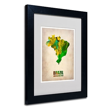 Trademark Fine Art 'Brazil Watercolor Map'