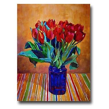 Trademark Fine Art 'Tulips in Blue Glass'