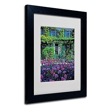Trademark Fine Art 'Monet's House With Tulips'