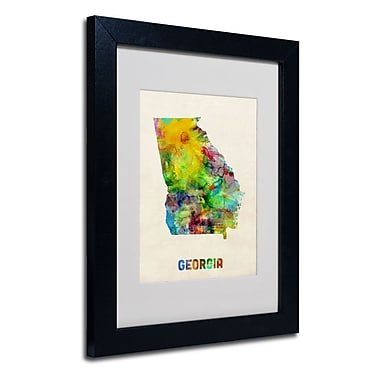 Trademark Fine Art 'Georgia Map'