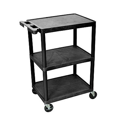 Luxor® HE 3 Shelves Polyethylene Utility Carts