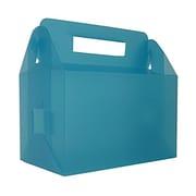 "Jam Paper® Plastic Lunch Box, 4 3/4"" x 7 3/4"" x 4 3/4"", Clear Grid"