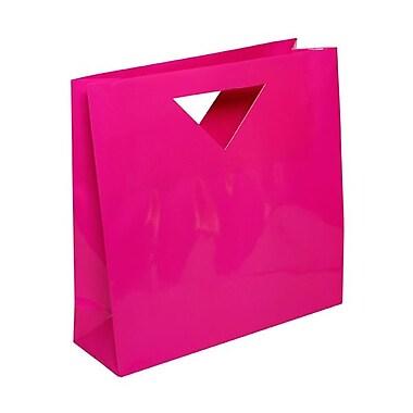JAM Paper® Glossy Heavy Duty Die Cut Gift Bag, 12