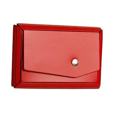 Jam PaperMD – Étui pour cartes professionnelles en cuir avec rabat angulaire, rouge