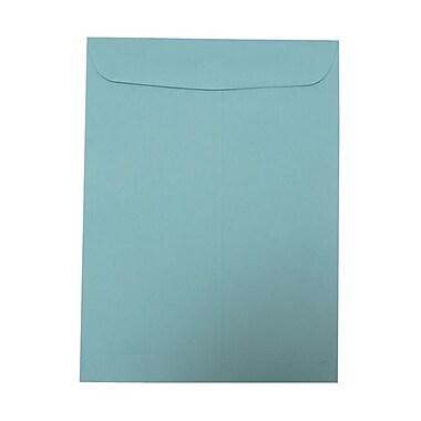 JAM PaperMD – Enveloppes ouvertes à rabat droit avec fermeture gommée, 9 x 12 po, bleu aquatique