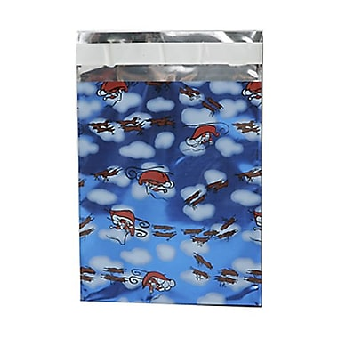 JAM PaperMD – Enveloppes ouvertes au bout avec revêtement intérieur et rabat droit, 6 1/4 x 7 7/8 po, bleu Noël