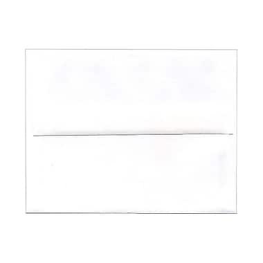 JAM PaperMD – Enveloppes format livret à rabat droit et fermeture gommée, 4 3/8 x 5 3/4 po, blanc