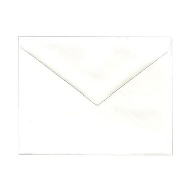 JAM PaperMD – Enveloppes format livret à rabat en V et fermeture gommée, 4 3/8 x 5 3/4 po, blanc