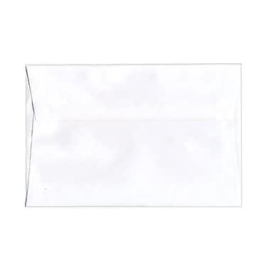 JAM PaperMD – Enveloppes format livret à rabat droit et fermeture gommée, 5 3/4 x 8 3/4 po, blanc