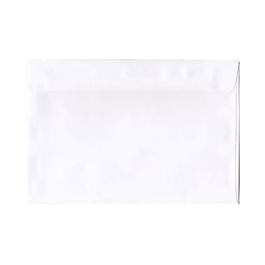JAM Paper® - Enveloppes format livret à rabat droit et fermeture gommée, 6 po x 9 1/2 po, blanc