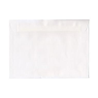 JAM PaperMD – Enveloppes à rabat droit et gommé, ouverture latérale, 9 po x 12 po, blanches
