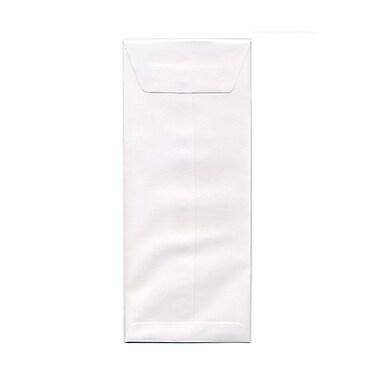 JAM PaperMD – Enveloppes à rabat droit et gommé, ouverture au bout, 4-3/4 po x 11 po, blanches