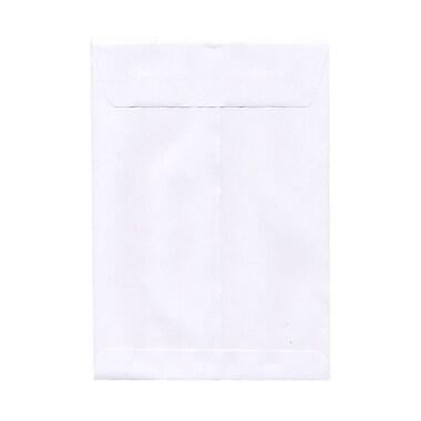 JAM PaperMD – Enveloppes ouvertes à rabat droit avec fermeture gommée, 7 1/2 x 10 1/2 po, blanc