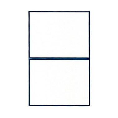 Jam Paper® Linen Foil Blank Foldover Cards, 4 3/8