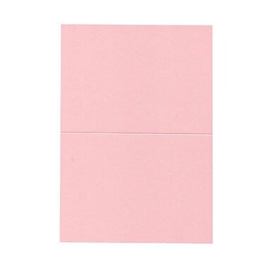 JAM PaperMD – Cartes à plier texturées vierges, 5 x 6 5/8 po, rose bébé