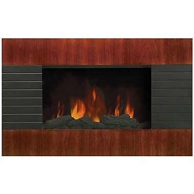 Modern Homes Wall Mount Fireplace with Mahogany Effect Front Panel
