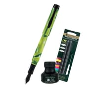 Monteverde® Intima Fountain Pens W/6 Black Refills and 1 Black Ink Bottle