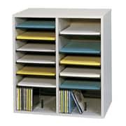 Safco® 16-Compartment Adjustable Literature Organizer
