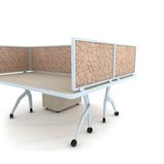 "Obex 24"" x 30"" Acoustical Desk Mount Privacy Panels W/AL Frame"