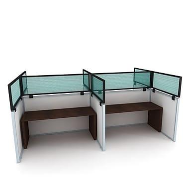 OBEX ? Panneau de confidentialité en polycarbonate pour bureaux à cloisons, standard, cadre noir, 12 x 36 po