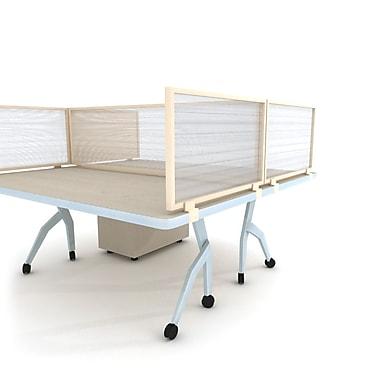 OBEX Polycarbonate Desk Mount Privacy Panel w/ Brown Frame, Translucent