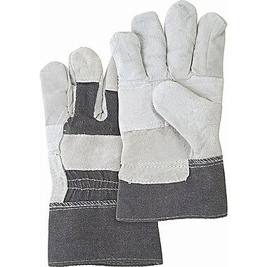 Zenith Safety Split Cowhide Patch Palm Fitters Gloves, Better Quality, 36/Pack