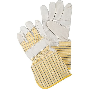 Zenith Safety Grain Cowhide Fitters Patch Palm Gloves, Better Quality, 24/Pack