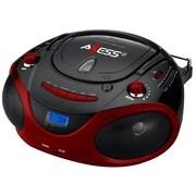 Axess® PB2703 Portable Boombox MP3/CD Players W/Text Display/AM/FM/Controls Even Dark