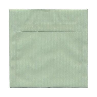 JAM PaperMD – Enveloppes carrées à fermeture gommée, 6 1/2 x 6 1/2 po, rivière translucide