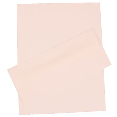 Jam Paper® Linen Stationery Set with 100 Paper & #10 Matching Envelopes, 4.125