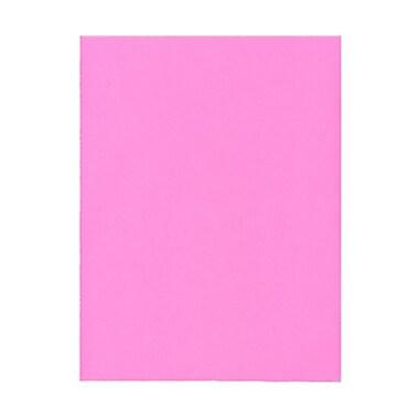 JAM PaperMD – Papier cartonné Brite Hue, 8-1/2 x 11 po, rose intense