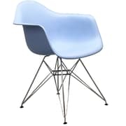 """Modway Paris 21""""H Molded Plastic Wire Base Dining Armchairs"""
