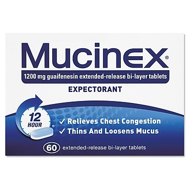 Mucinex® Expectorant Regular Strength Tablets, 12 Hour Relief