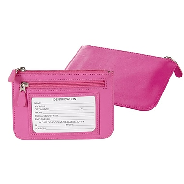 Royce Leather Portefeuilles mince, framboise