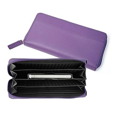Royce Leather – Portefeuilles Fan pour iPhone, violet