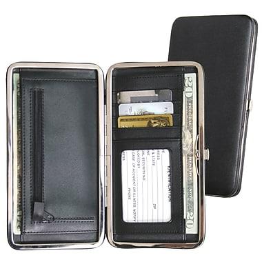 Royce Leather Slim Framed Wallet, Black