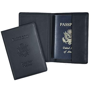Royce Leather – Porte-documents de voyage anti-RFID pour passeport, en cuir véritable (RFID-204-BLE-5)