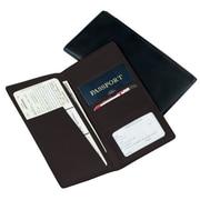 Royce Leather Passport Ticket Holder, Man-Made Leather, Black