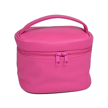 Royce Leather Travel Cosmetic Bag, Wildberry