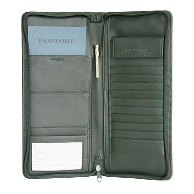 Royce Leather - Étui à documents expansible de voyage, vert