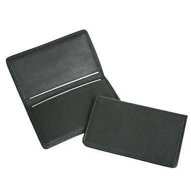 Royce – Étui pour cartes professionnelles classique en cuir, vert